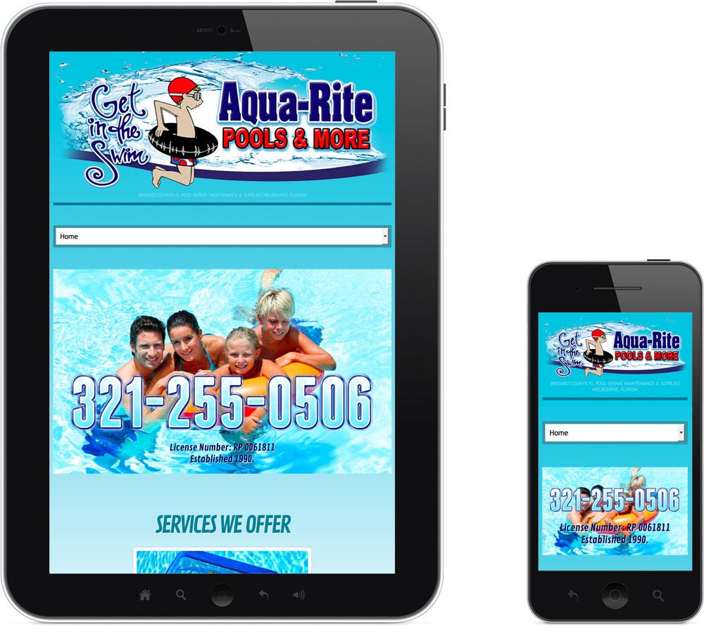 AquaRite Melbourne FL Web Design Mobile