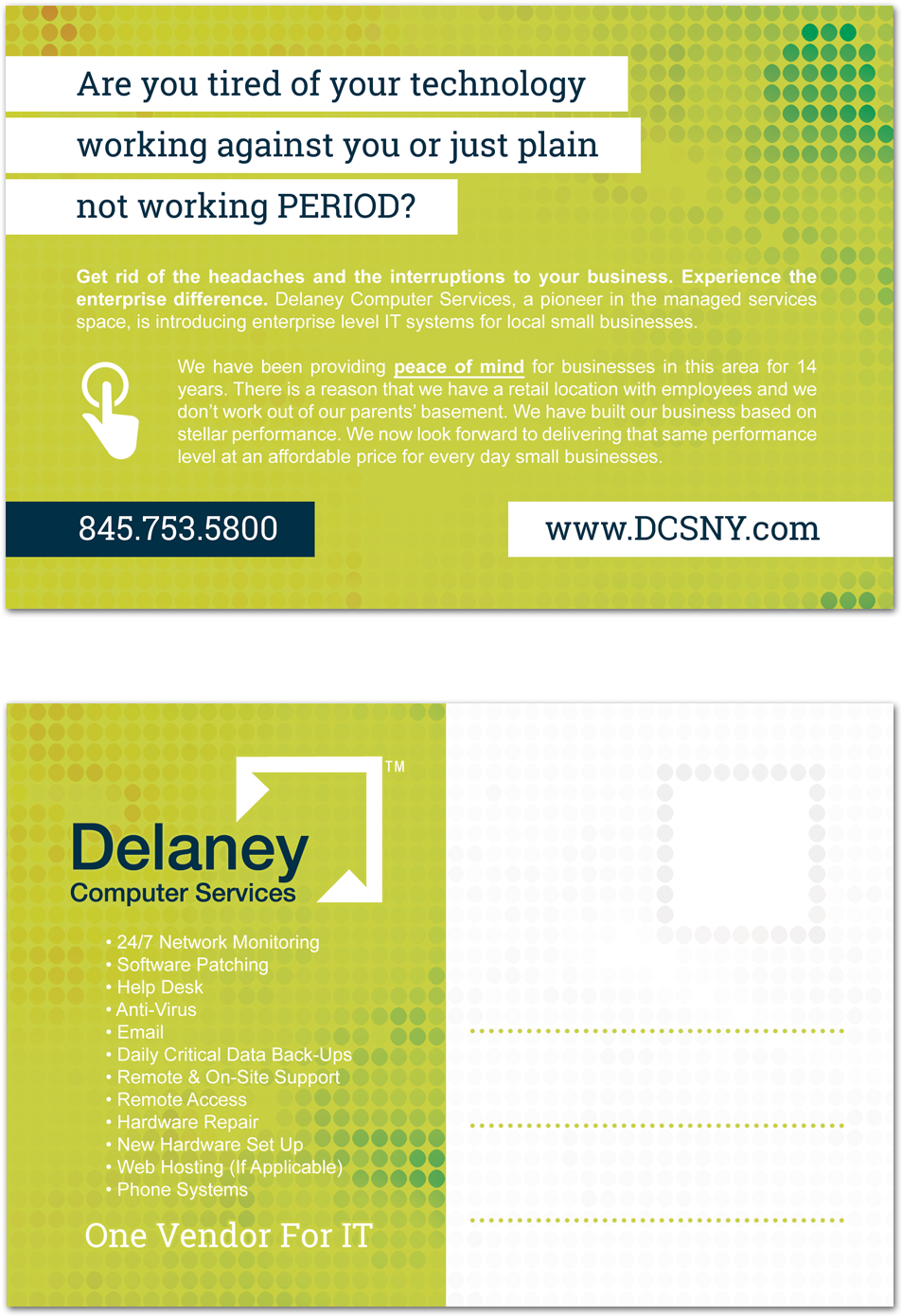 DCS - Printing postcard design Florida