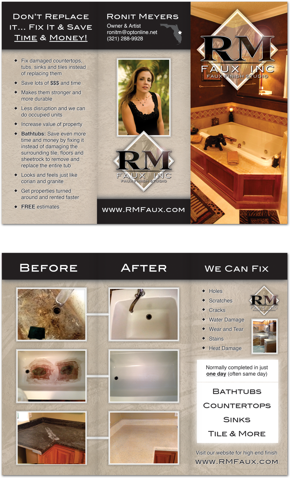 RM Faux Business Flyers Brevard County FL