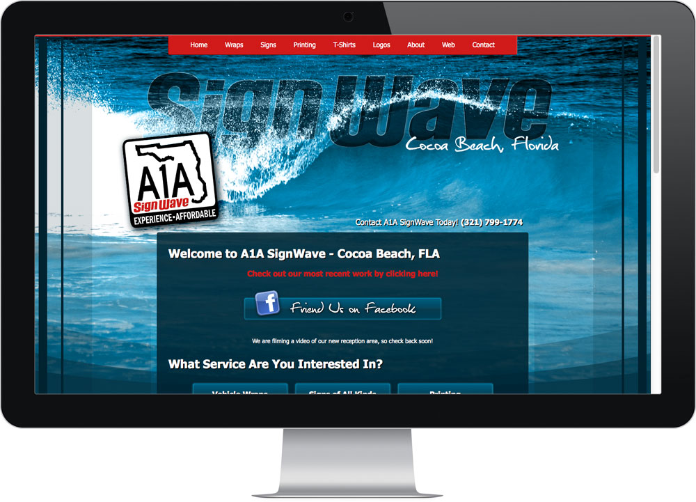 A1A Cocoa Beach website design