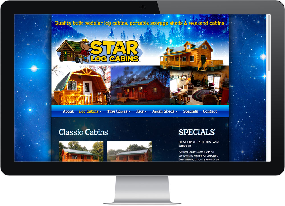 Best web design company Star Log Cabins