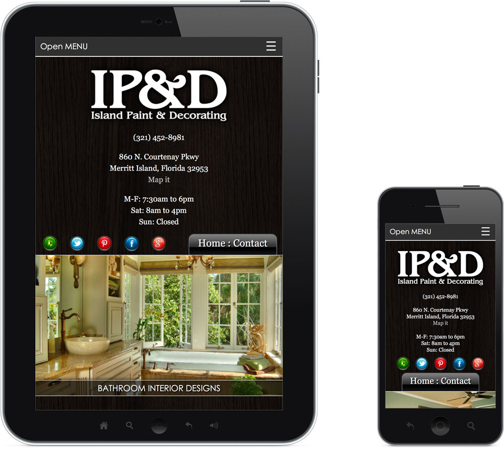 Brevard County FL web design IPAD