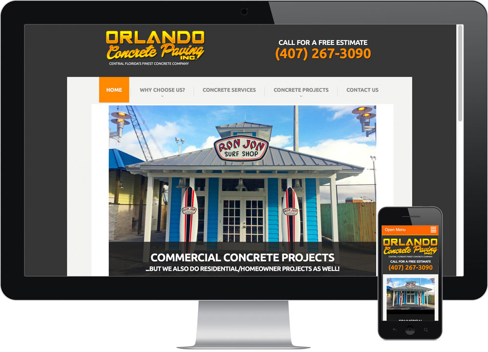 Local Web Designer Orlando FL Metro Concrete