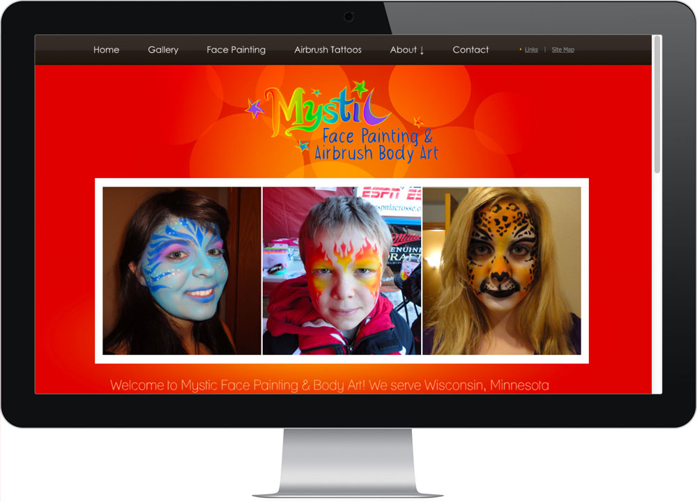 Mystic Facepainting Cheap Web Design Company