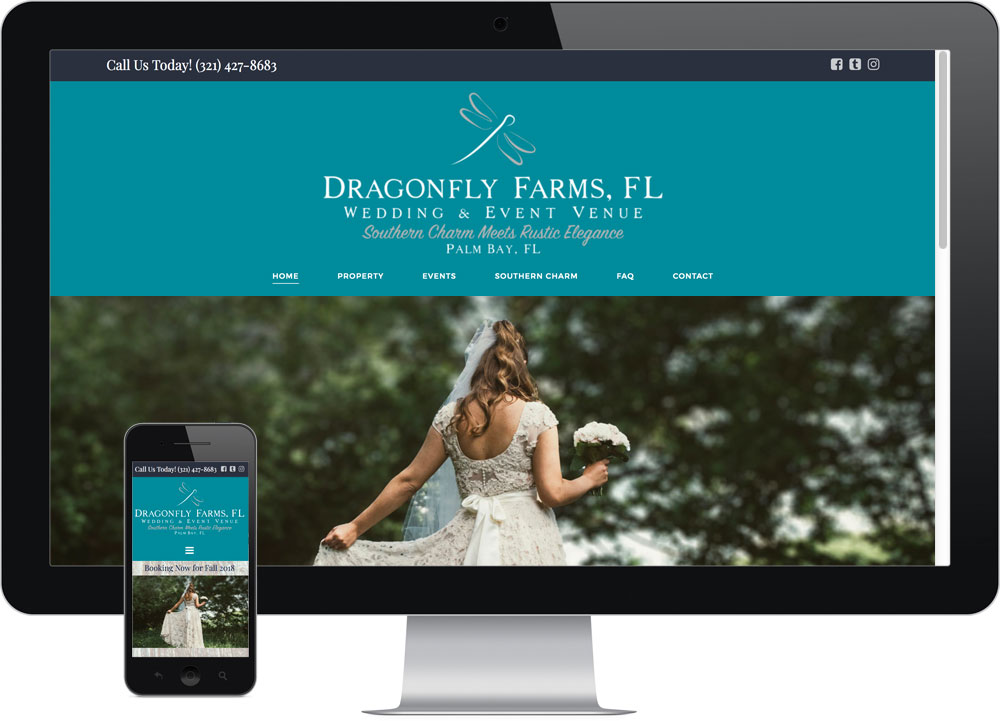Semi-Custom Web Design Brevard FL Dragonfly Farms
