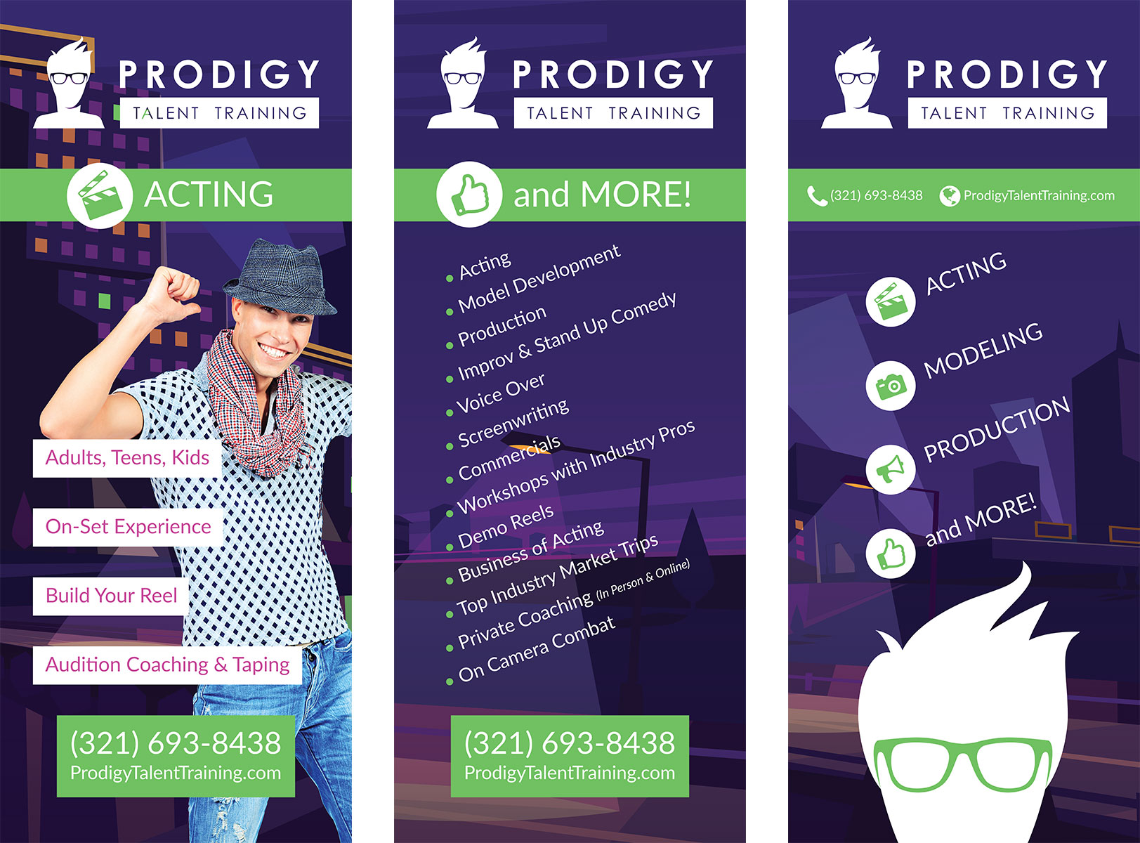 Prodigy Talent Training Popup Banners
