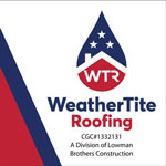 Business Cards: WeatherTite Roofing (Front)