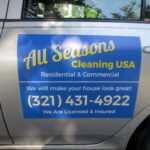 Car Magnet: All Seasons Cleaning USA 1