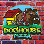 Doghouse Pizza Trifold Menu Design Melbourne FL - Front
