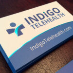 Premium Silk Business Card Printing Indigo Telehealth 02