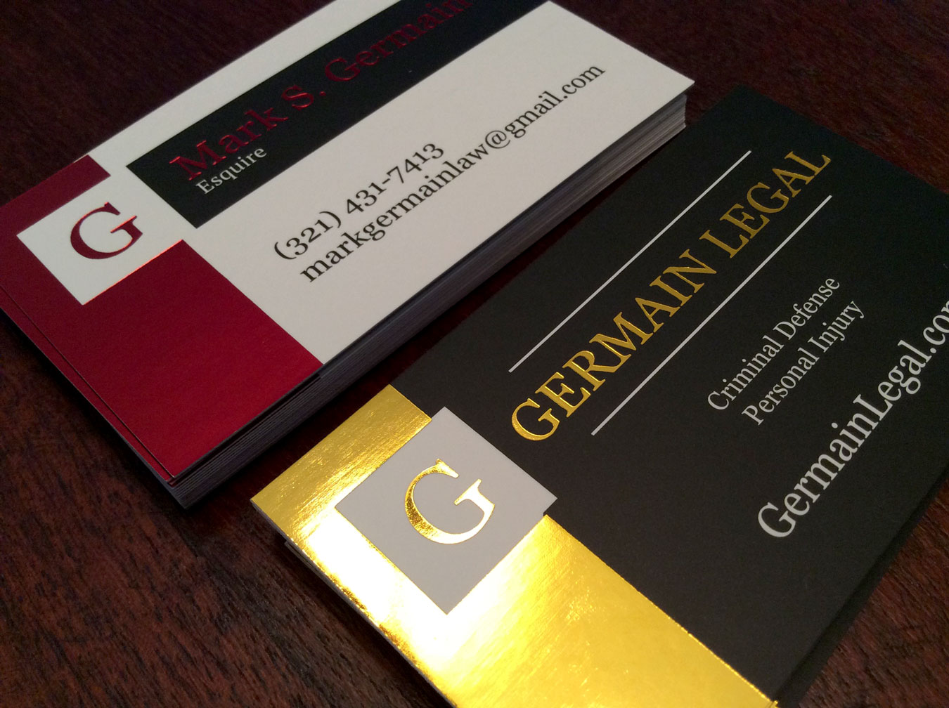 Premium Biz Cards: Germain Legal 3