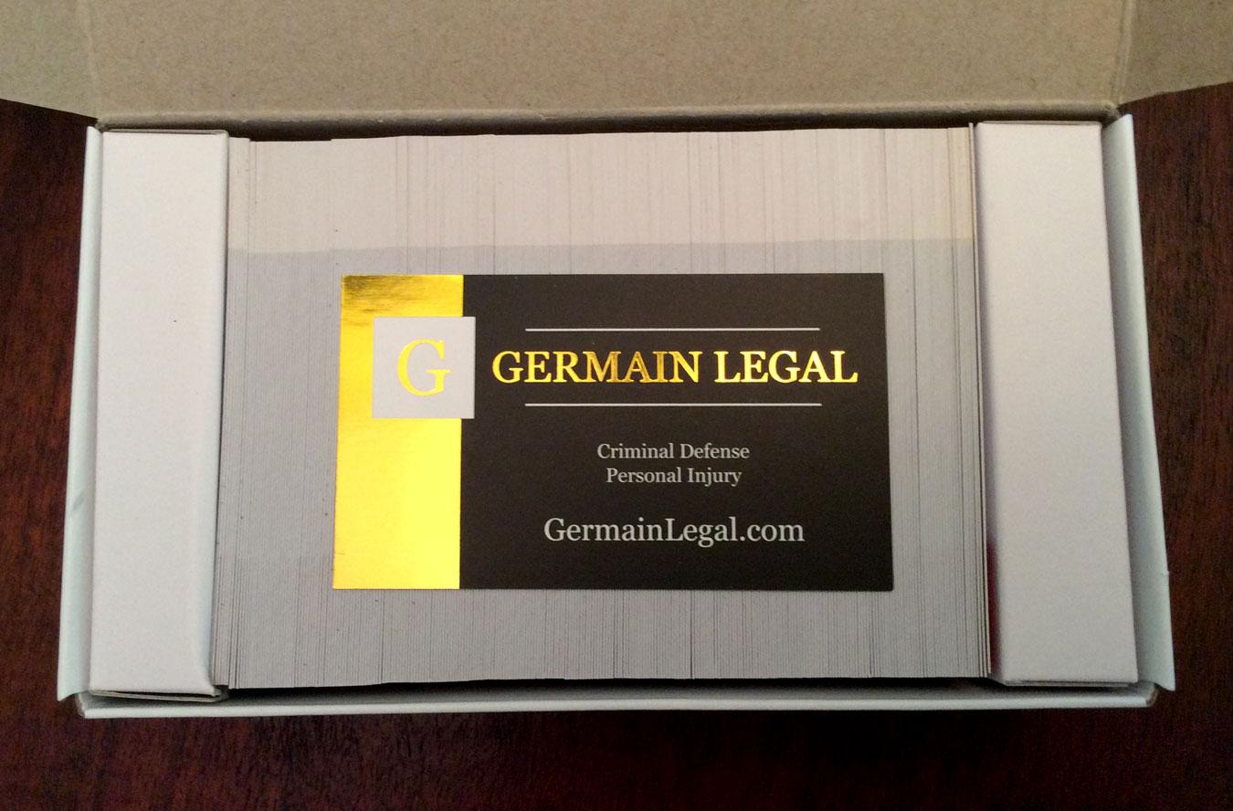 Premium Biz Cards: Germain Legal 4