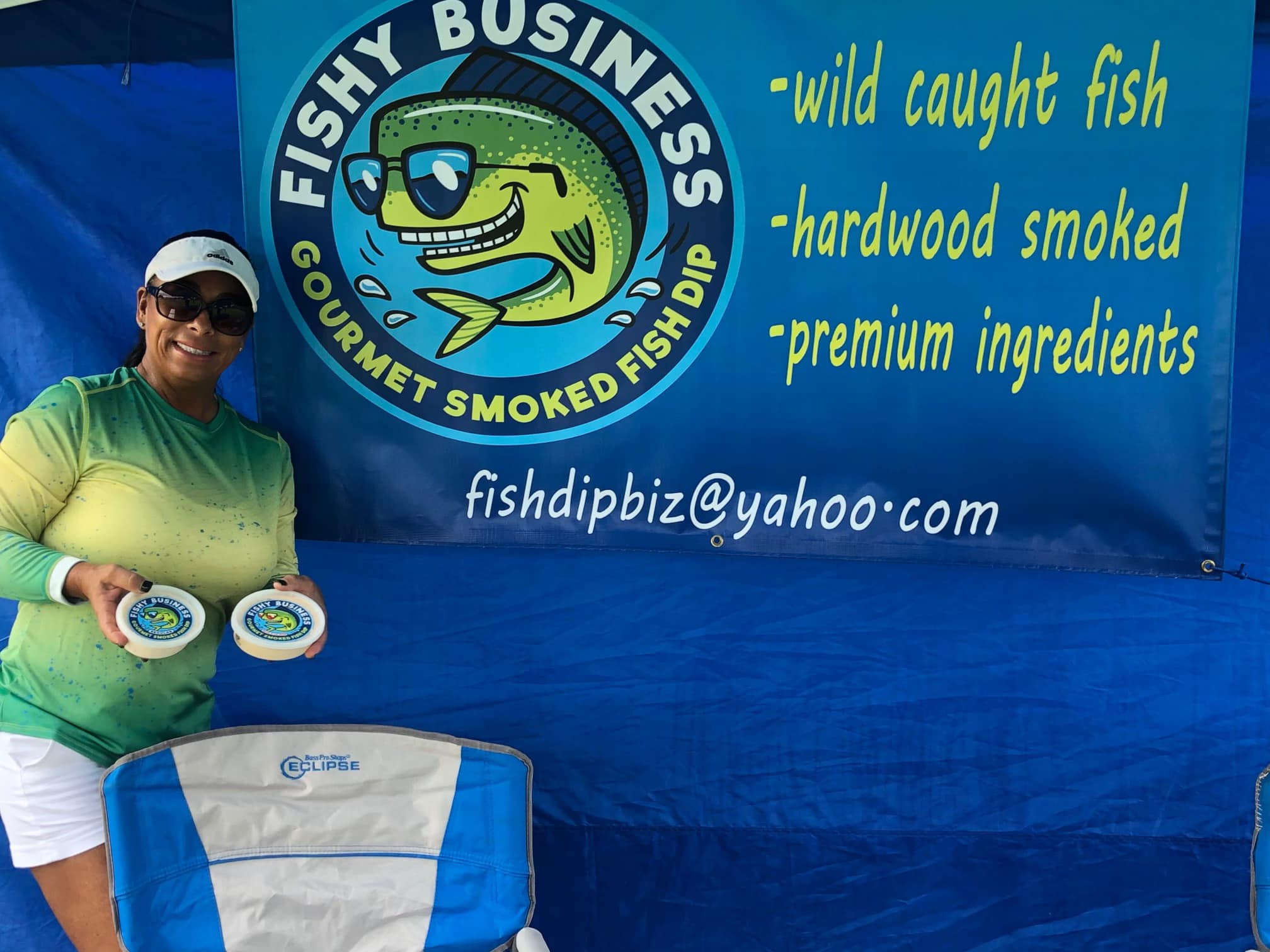 Fishy Business logo design on product 2