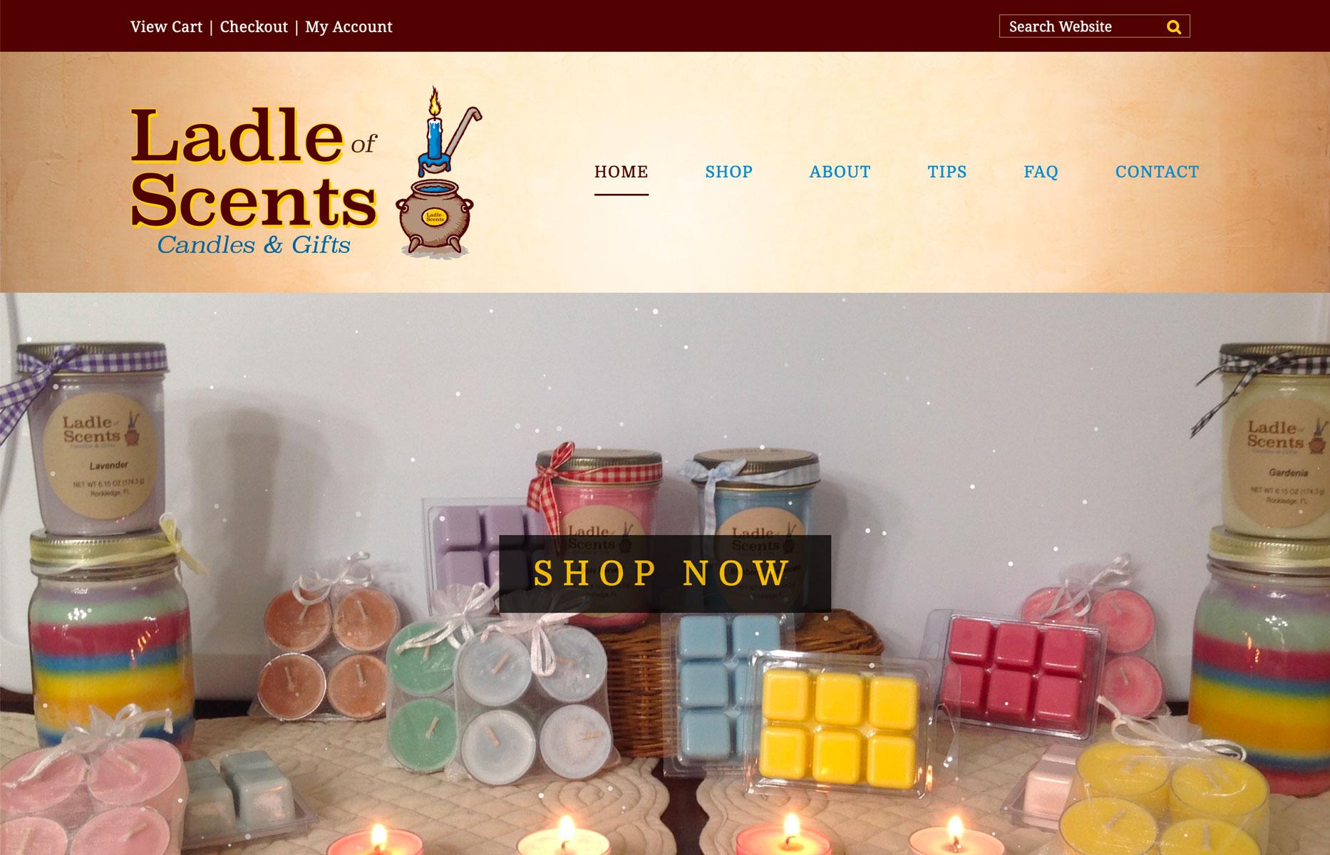 New Web Design: Ladle of Scents