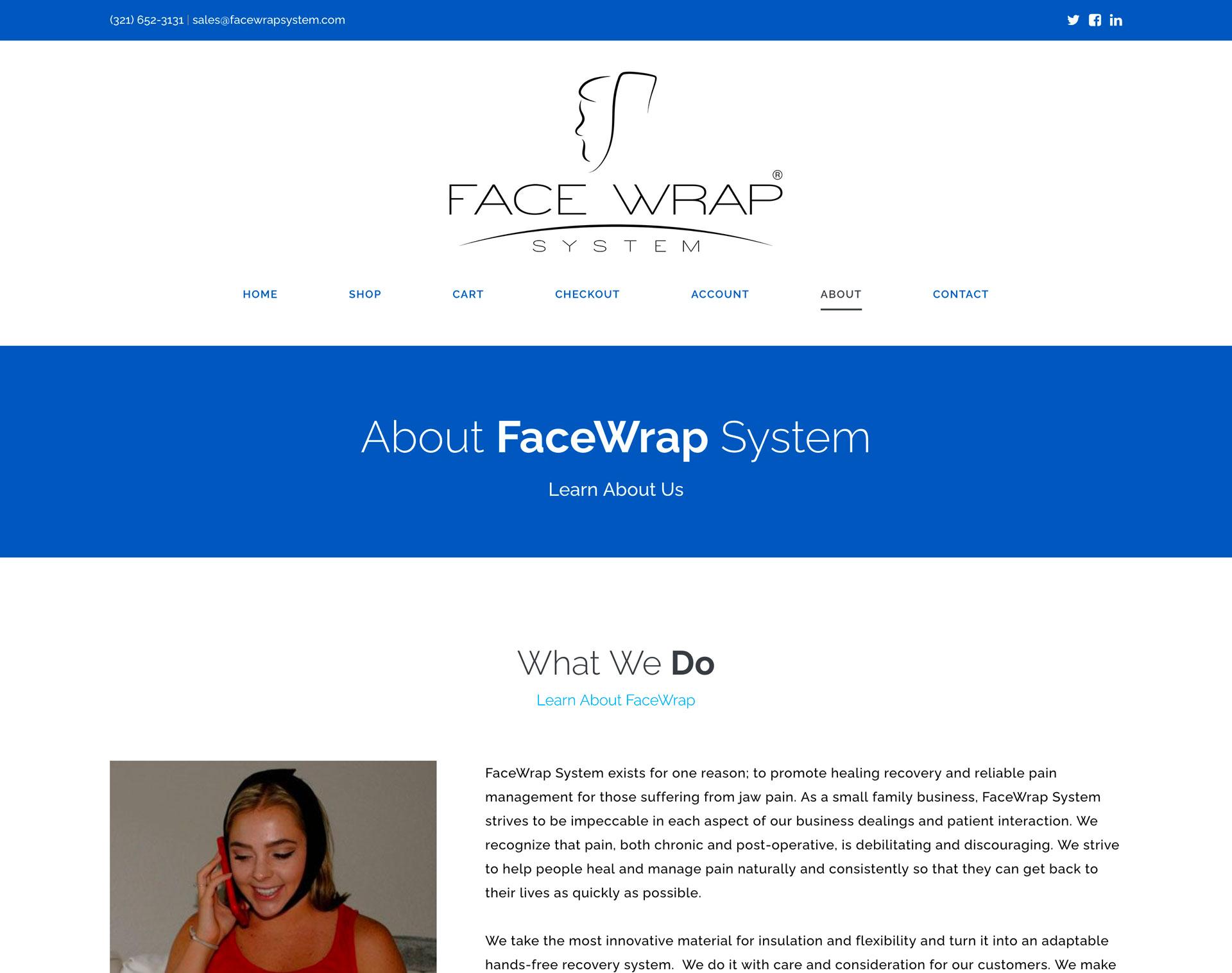 New Web Design: Face Wrap System