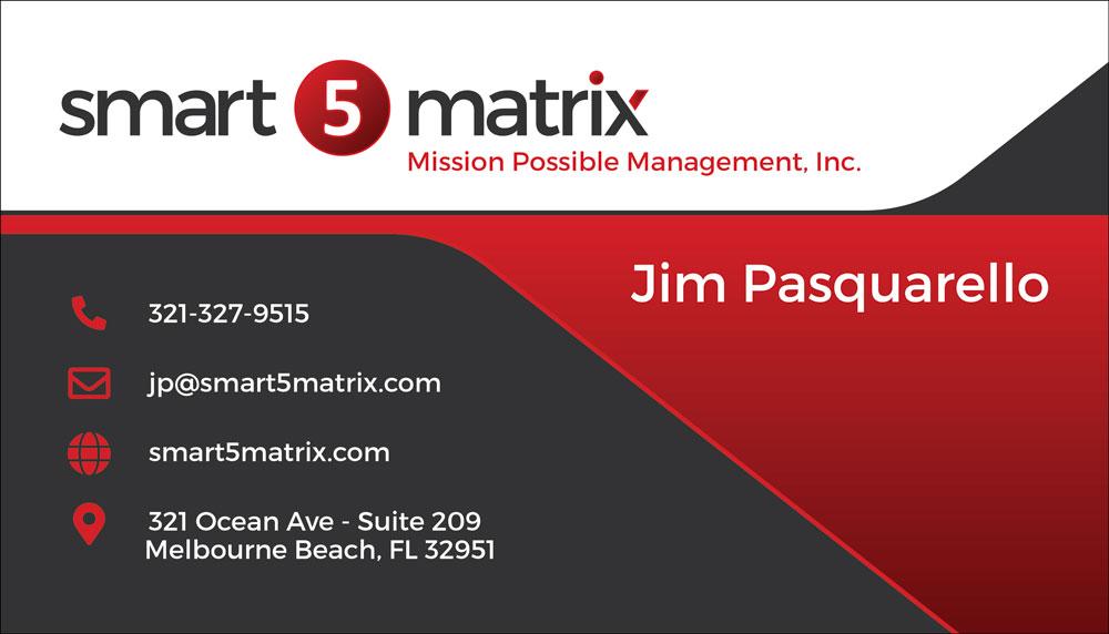 Business Cards: Smart 5 Matrix