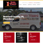 New Web Design: Drain Wizard Plumbing