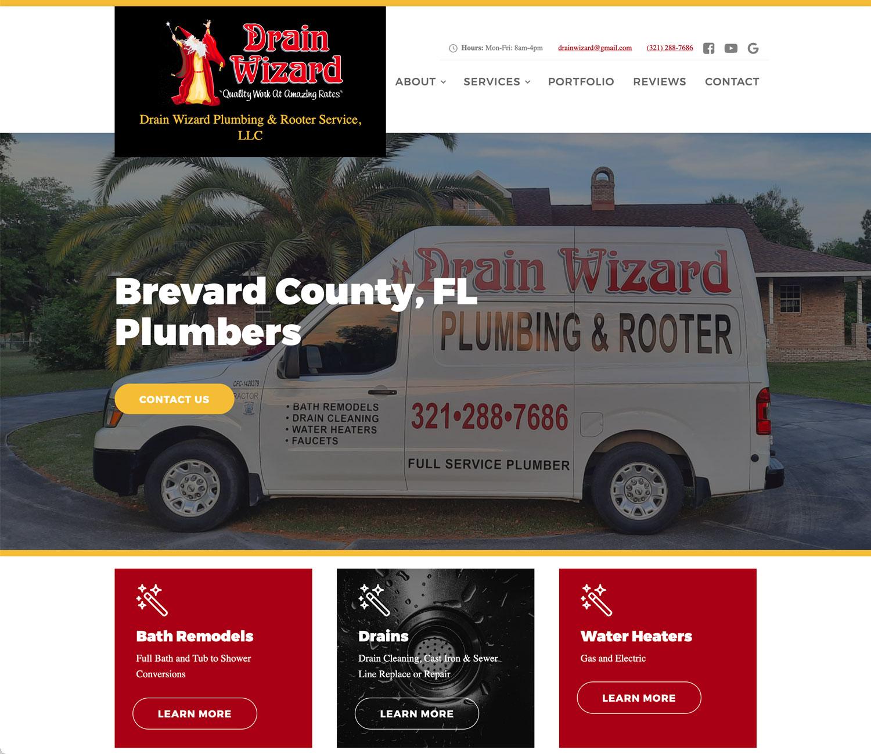 New Web Design: Drain Wizard Plumbing