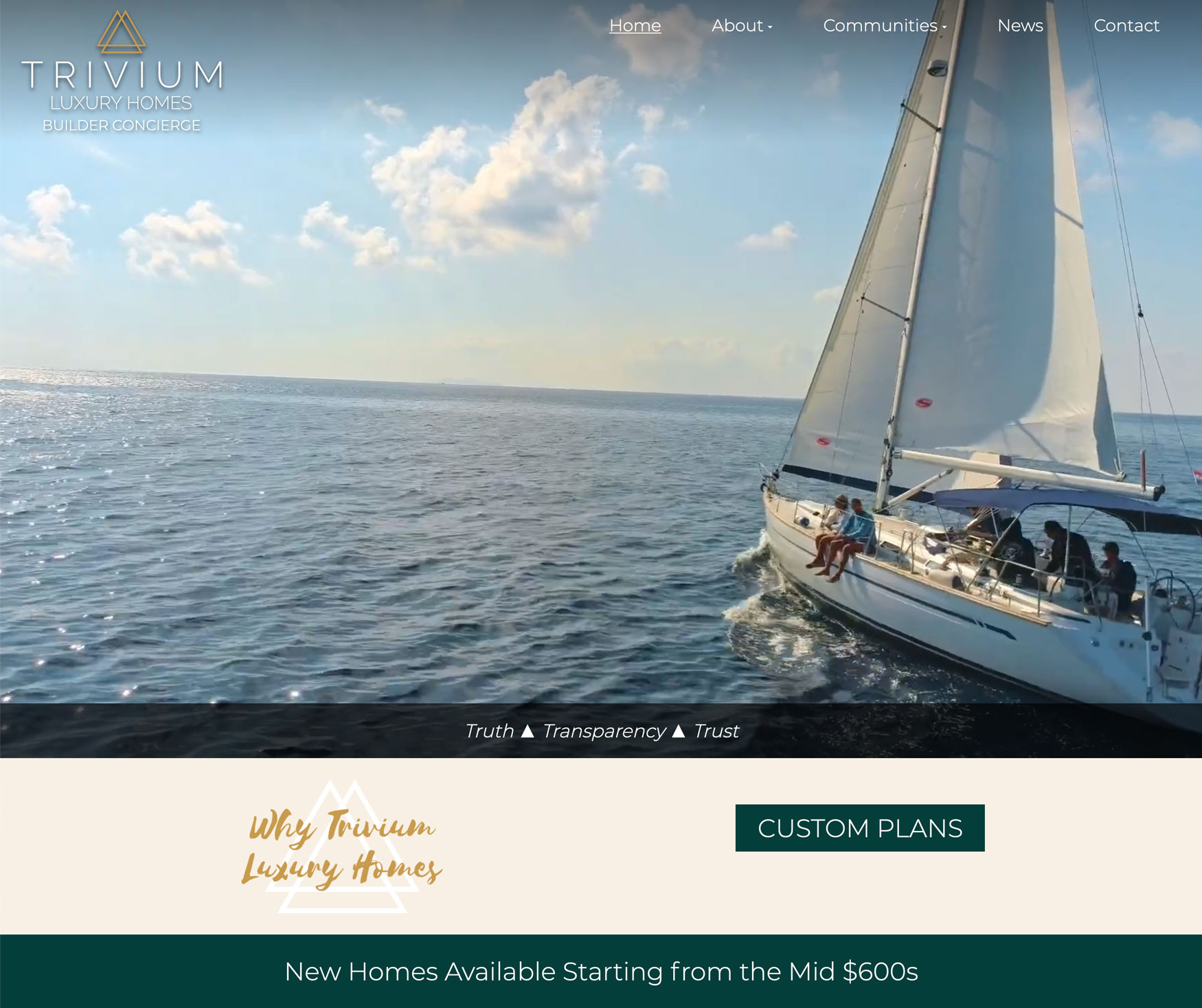 New Website Launched: Trivium Luxury Homes