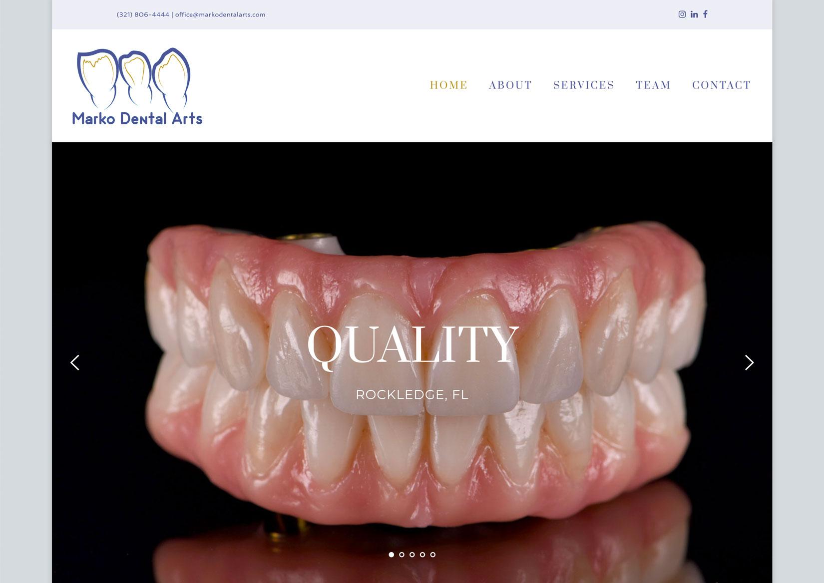 Website Launched: Marko Dental Arts