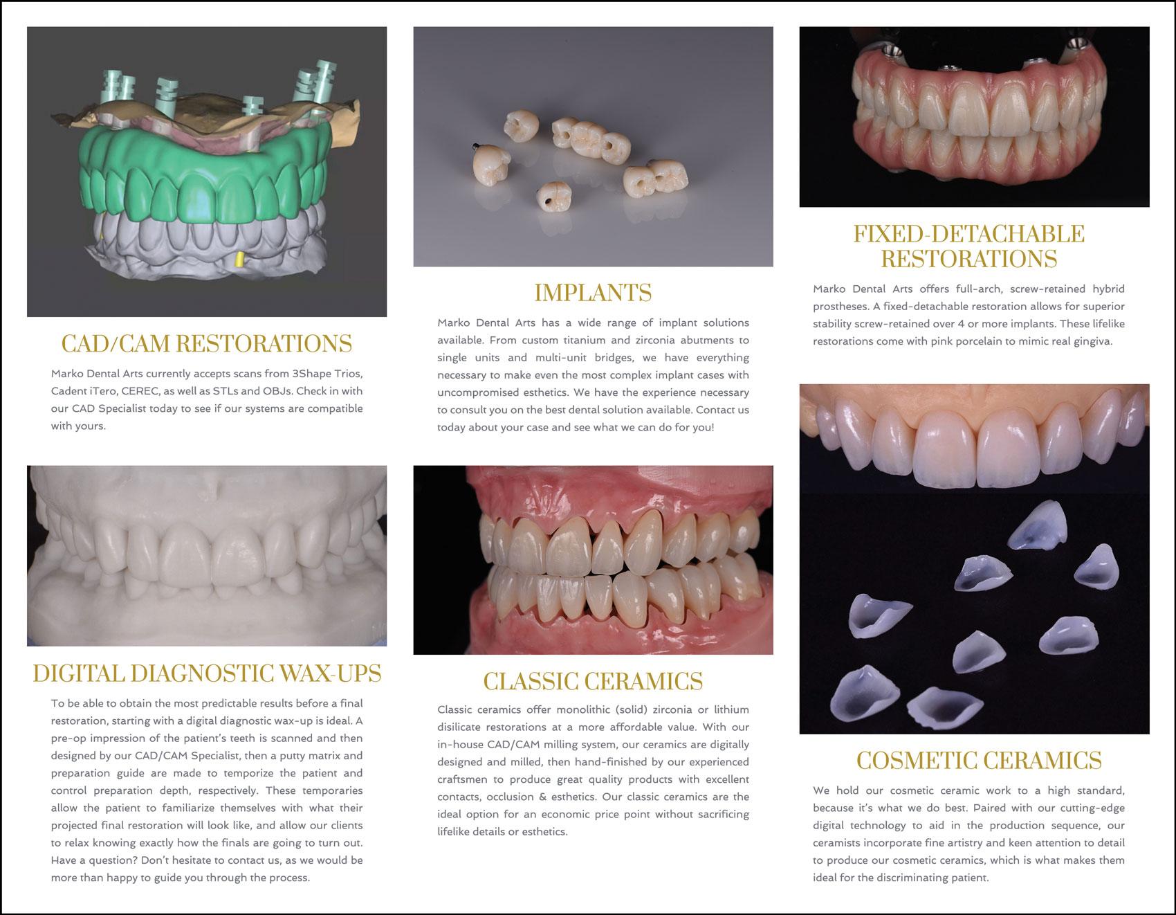 Inside panel Marko Dental Arts