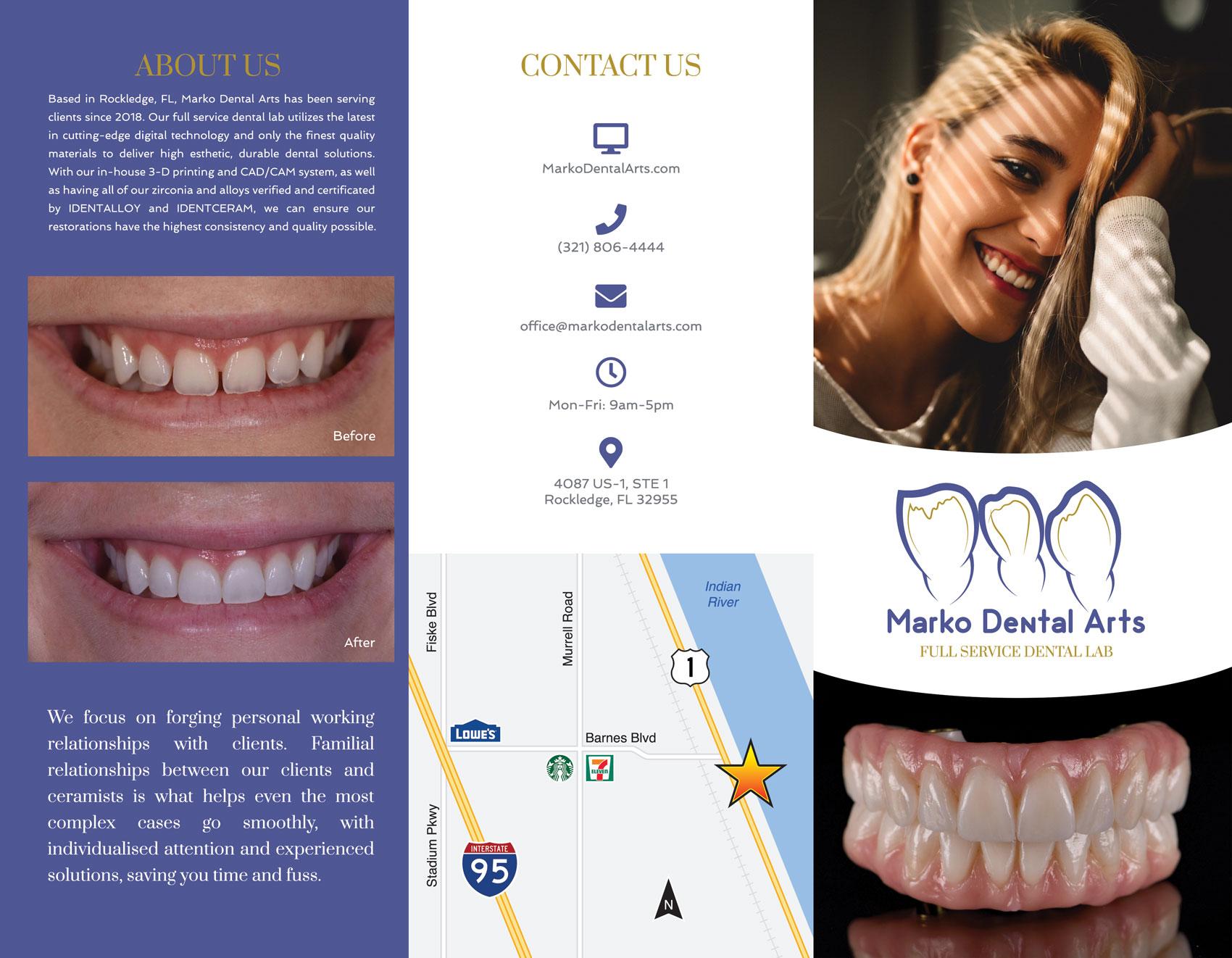 Outside panel Marko Dental Arts