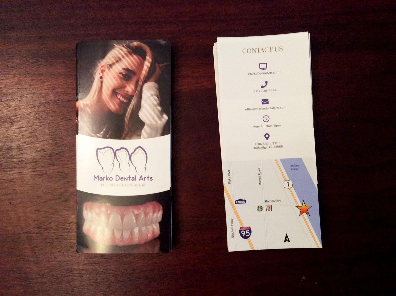 Trifold Design & Printing: Marko Dental Arts
