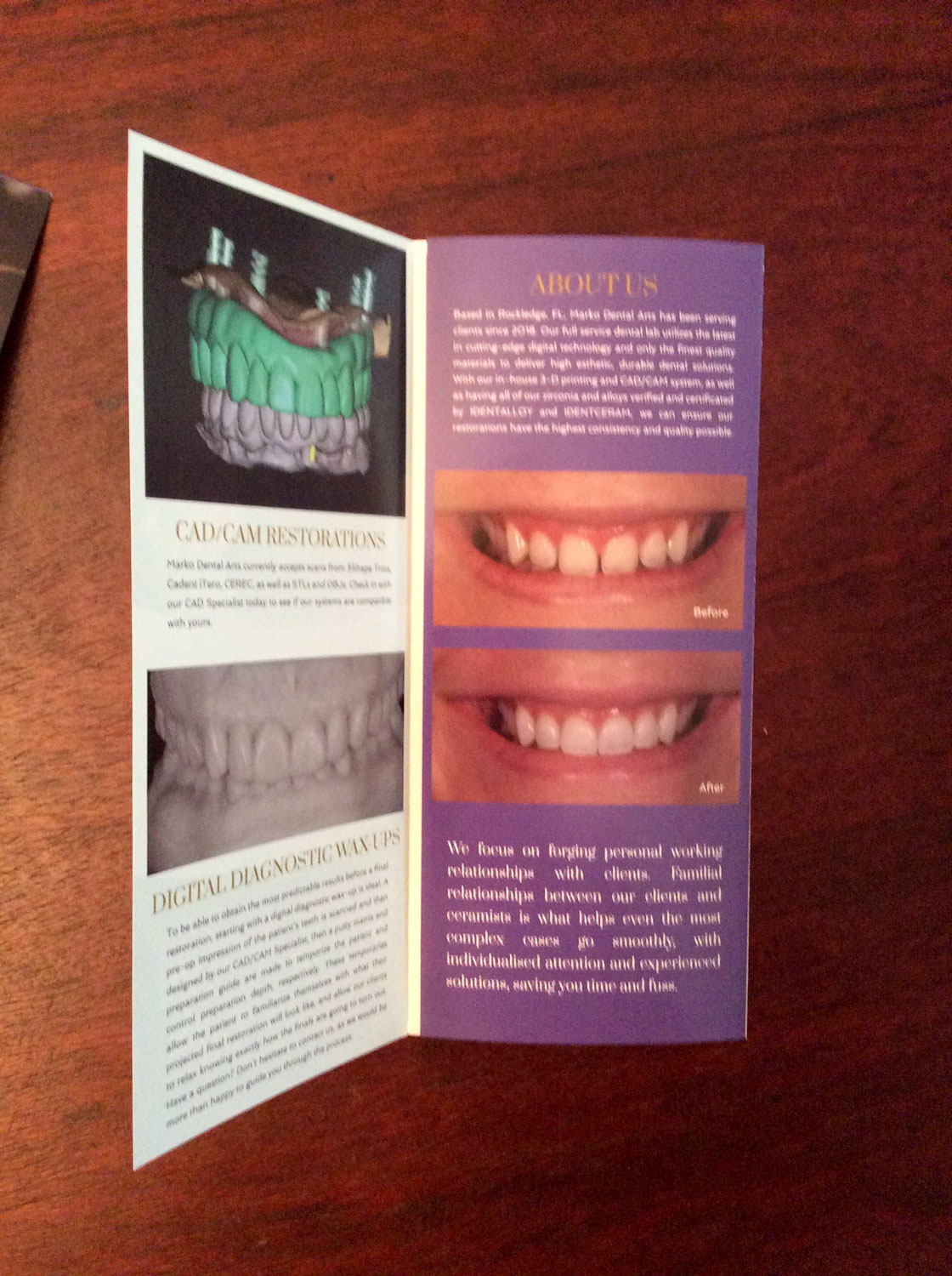 Open trifold design and printing