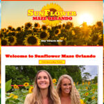 Website Launched: Sunflower Maze Orlando FL