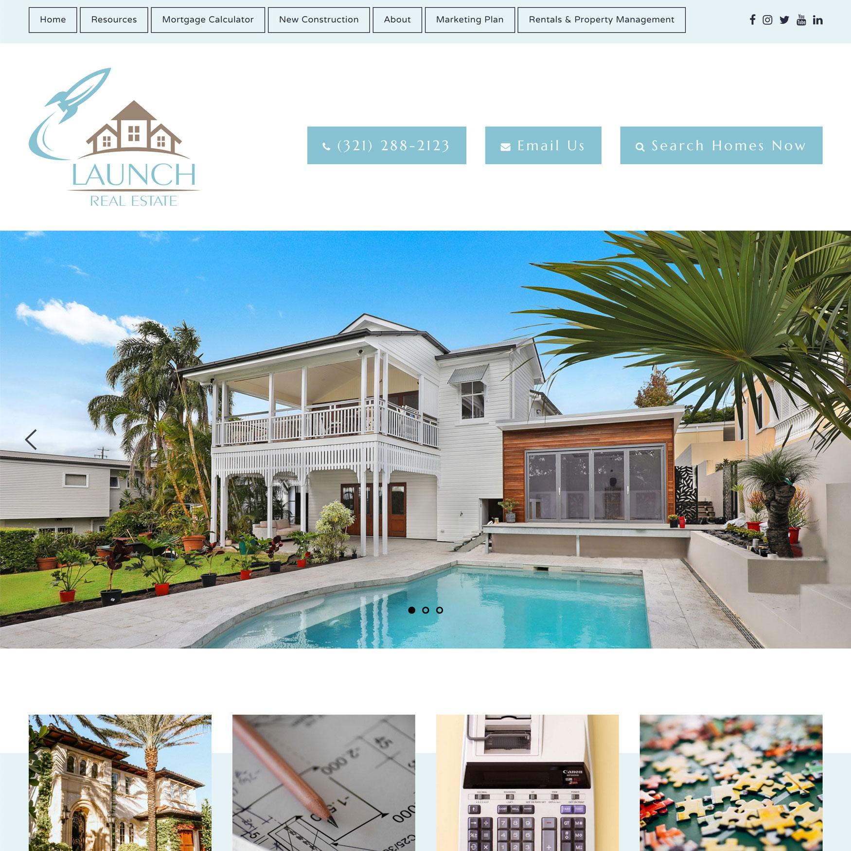 New Website: Launch Brevard Homes