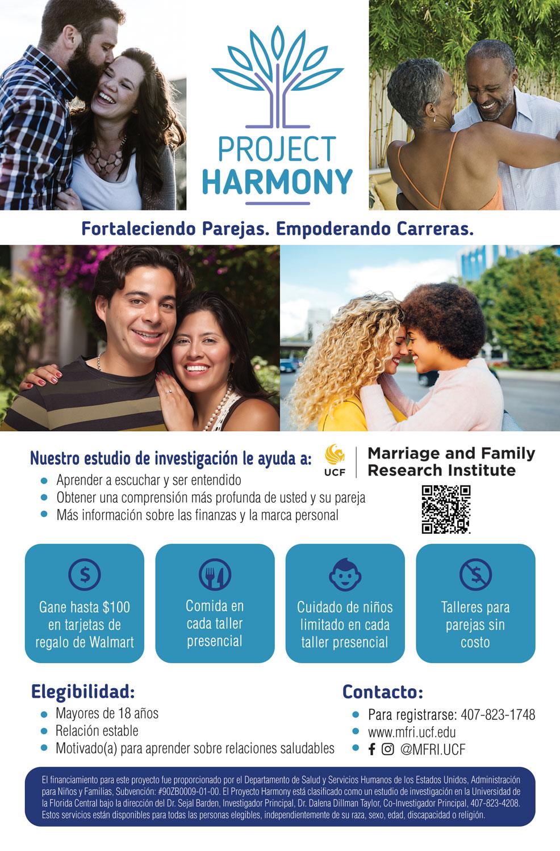 Project Harmony (UCF) Flyer Design (Spanish)