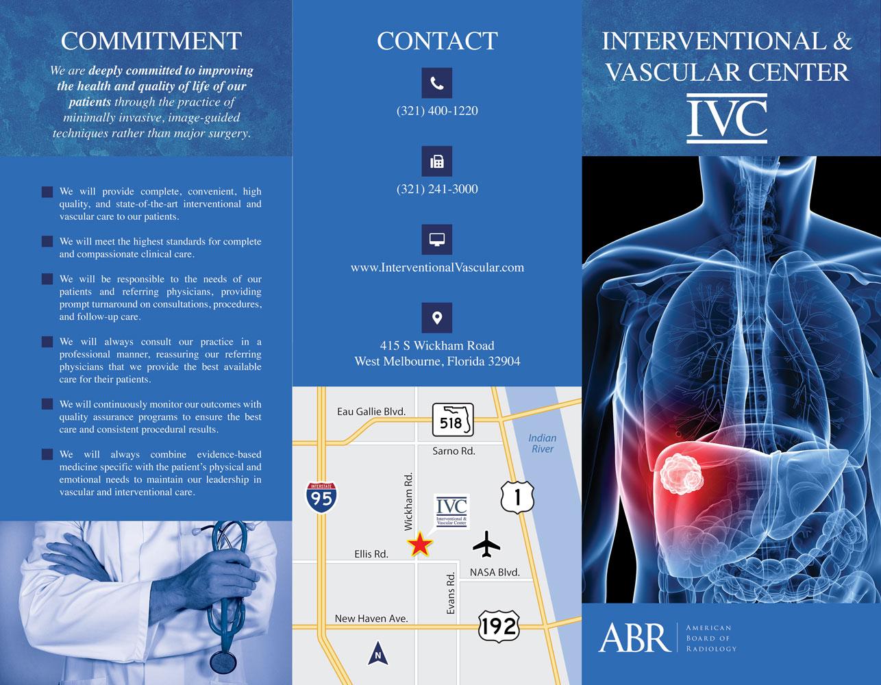 New Trifolds for the Interventional & Vascular Center (IVC) 06
